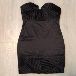 Nikibiki Black Satin Dress